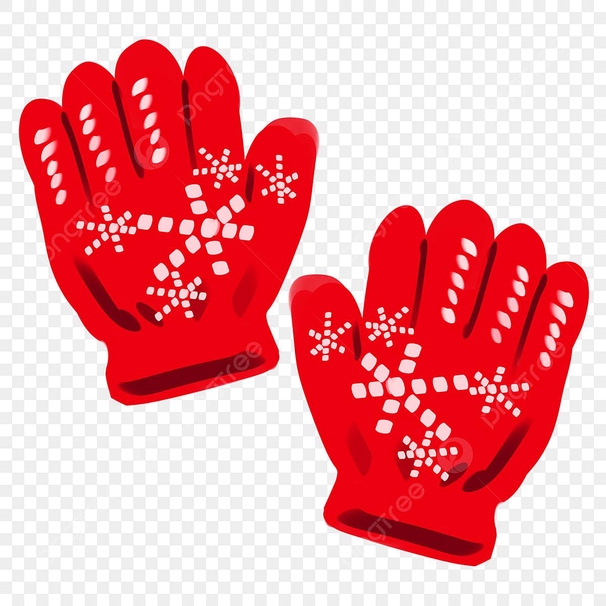 Luvas Vermelhas Luvas Bonitas Luvas Pintadas à Mão Luva De