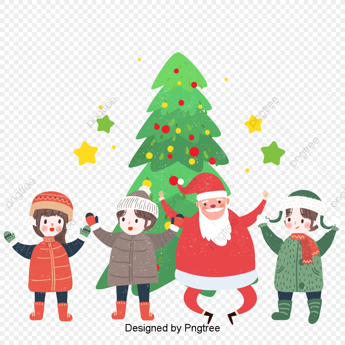 Christmas Illustrations.Santa Claus And Children Search Illustrations Christmas
