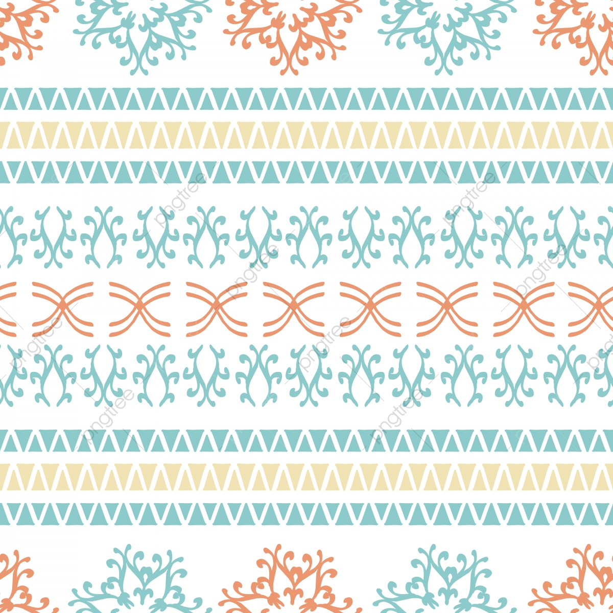 Sin Fisuras Patrón Azteca Con Color Brillante Ilustración Vectorial