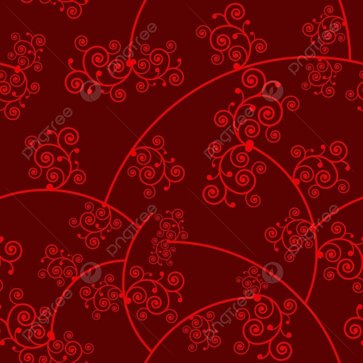 In Damasco Rosso Di Lusso Sfondo Ornamentali In Motivo Floreale