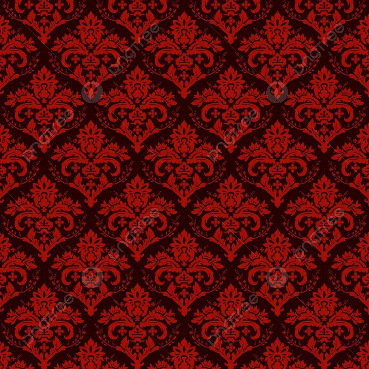 Seamless Luxury Ornamental Background Red Damask Seamless ...