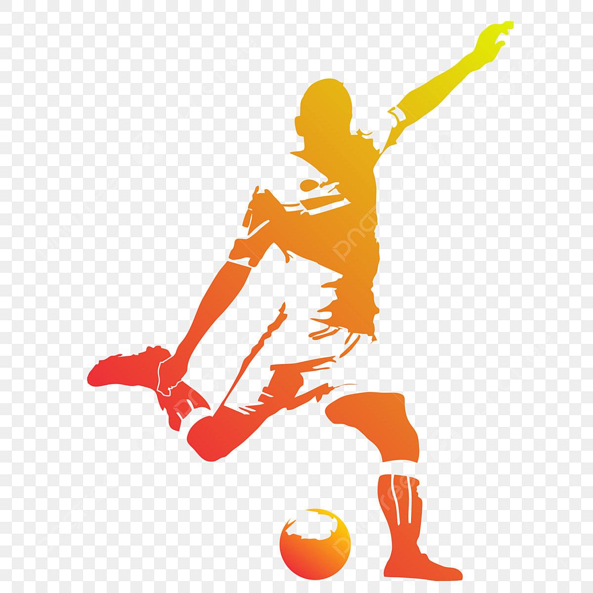 Silhouette Fussballspieler Ball Fubolista Jugando Png Und