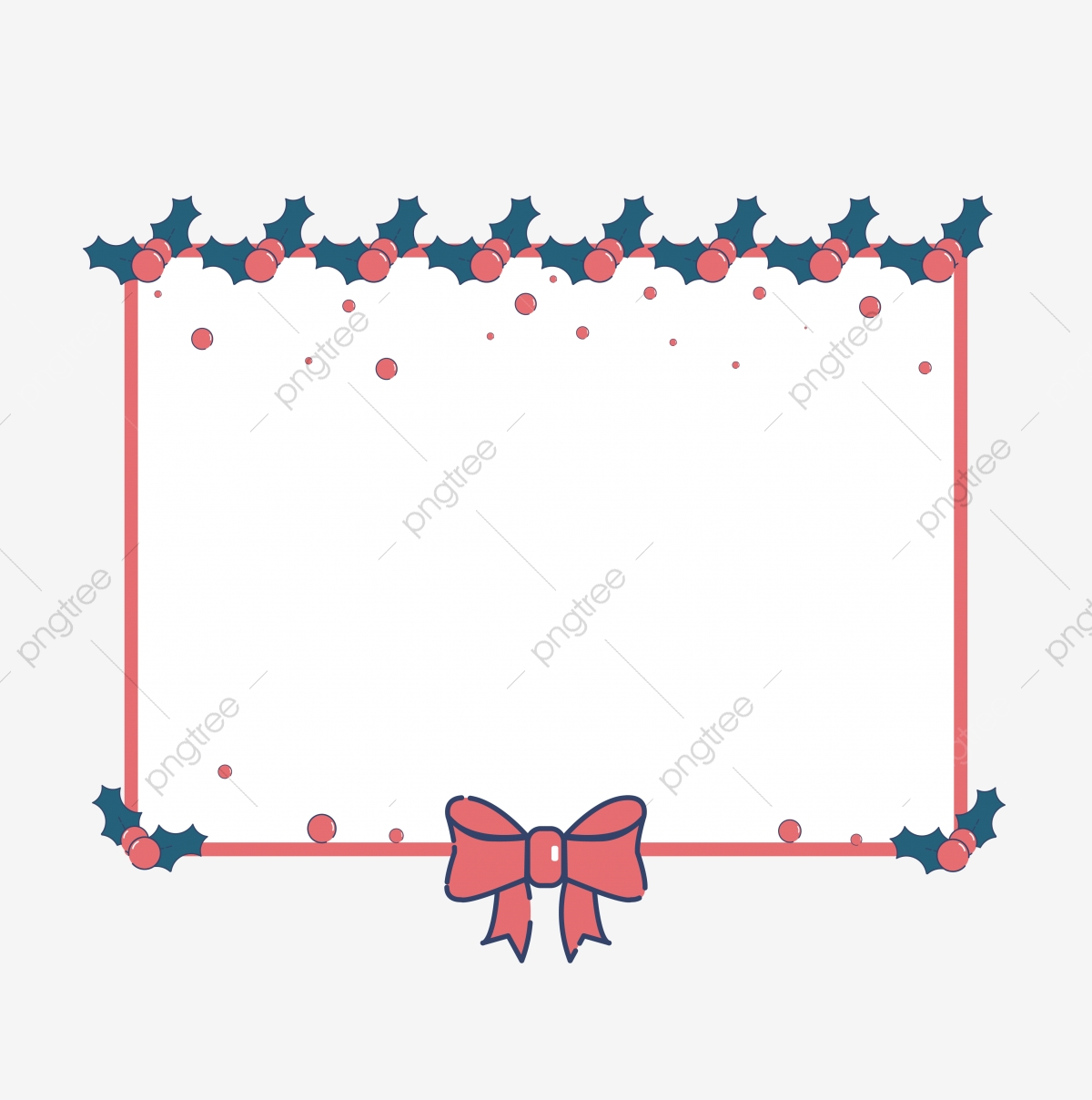 Christmas Border Design Png.Simple Cartoon Mbe Style Christmas Border Christmas
