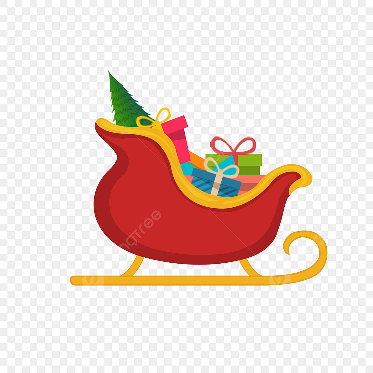 élément De Cadeau Traîneau Et Noël Dessin Animé Couleur