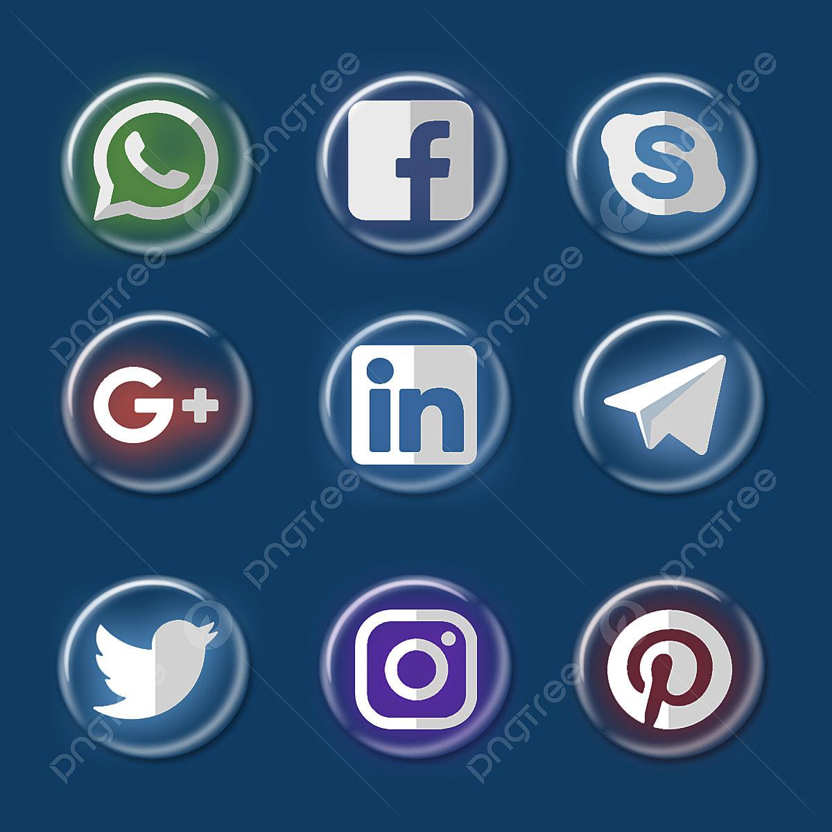 Social Media Icons Set Social Media Icons Set