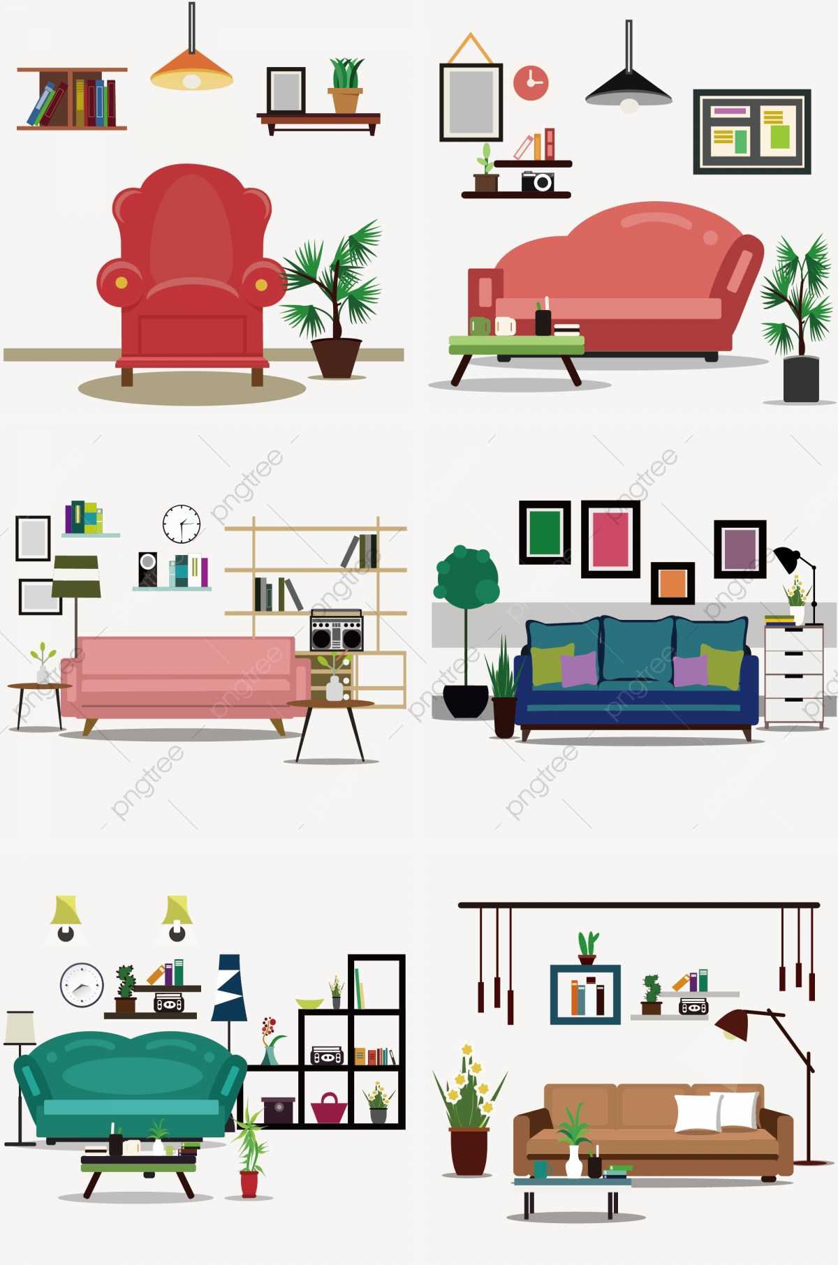 Picture of: Sofa Pillow Small Coffee Table Storage Box Light Show Books Potted Vase Png And Vector With Transparent Background For Free Download