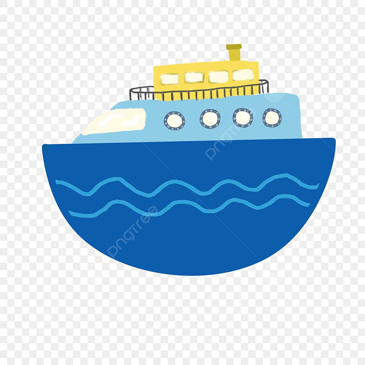 Barco Barco De Buceo Submarino Submarino Azul Caricatura Dibujado A