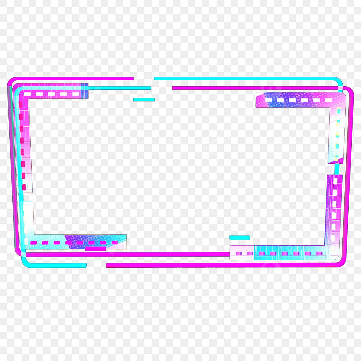 tech colorful neon border 2 5d neon colorful neon frame