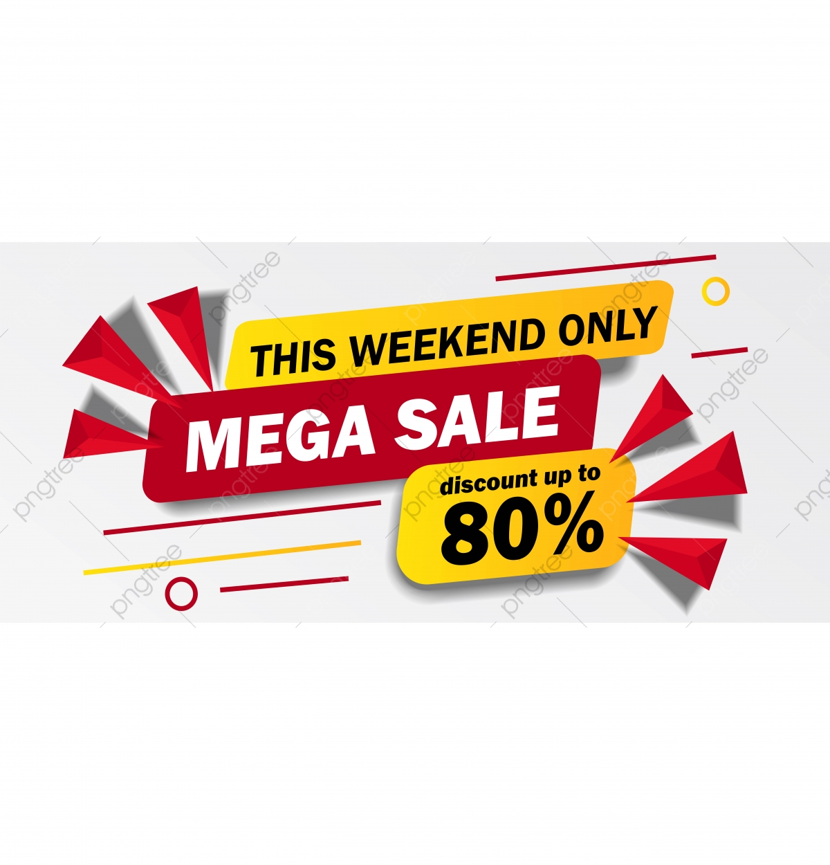 beliebte Marke Heiß-Verkauf am neuesten klar in Sicht This Weekend Only Mega Sale Banner With Yellow And Red Color ...