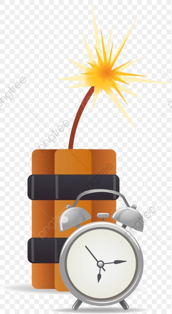 43bb3b203332 Bombas de tiempo Pintado A Mano Bomba Reloj Despertador PNG Imagen y Clipart