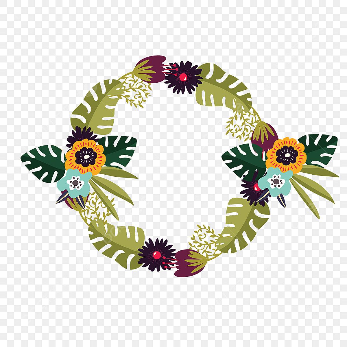 Coroa De Flores Com Flores Tropicais Floresta Coroa De