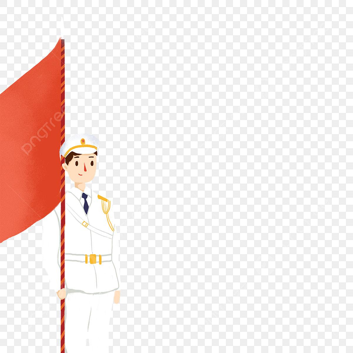Gambar Paman Pla Bendera Merah Merah Putih Penamat Serius Seragam Tentera Png Dan Psd Untuk Muat Turun Percuma