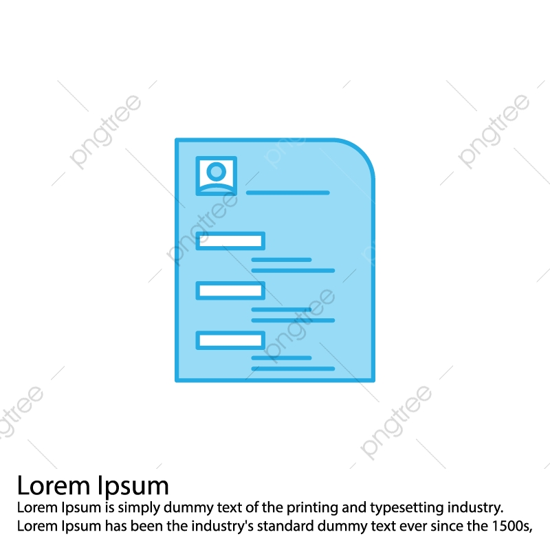Vector Cv Icon Cv Icon Resume Portfolio Png And Vector