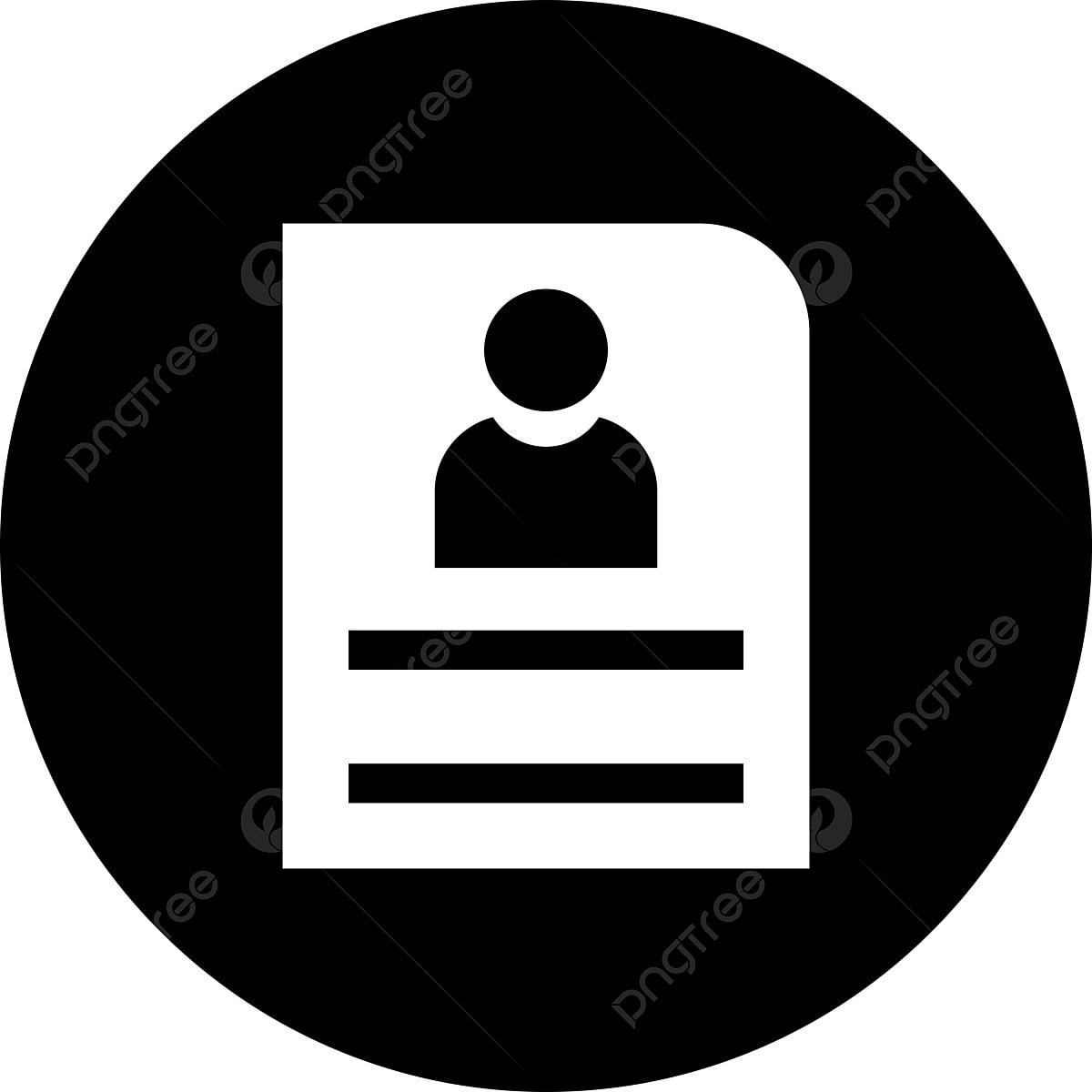 Vector Cv Icon Cv Icons Cv Icon Resume Png Transparent Clipart