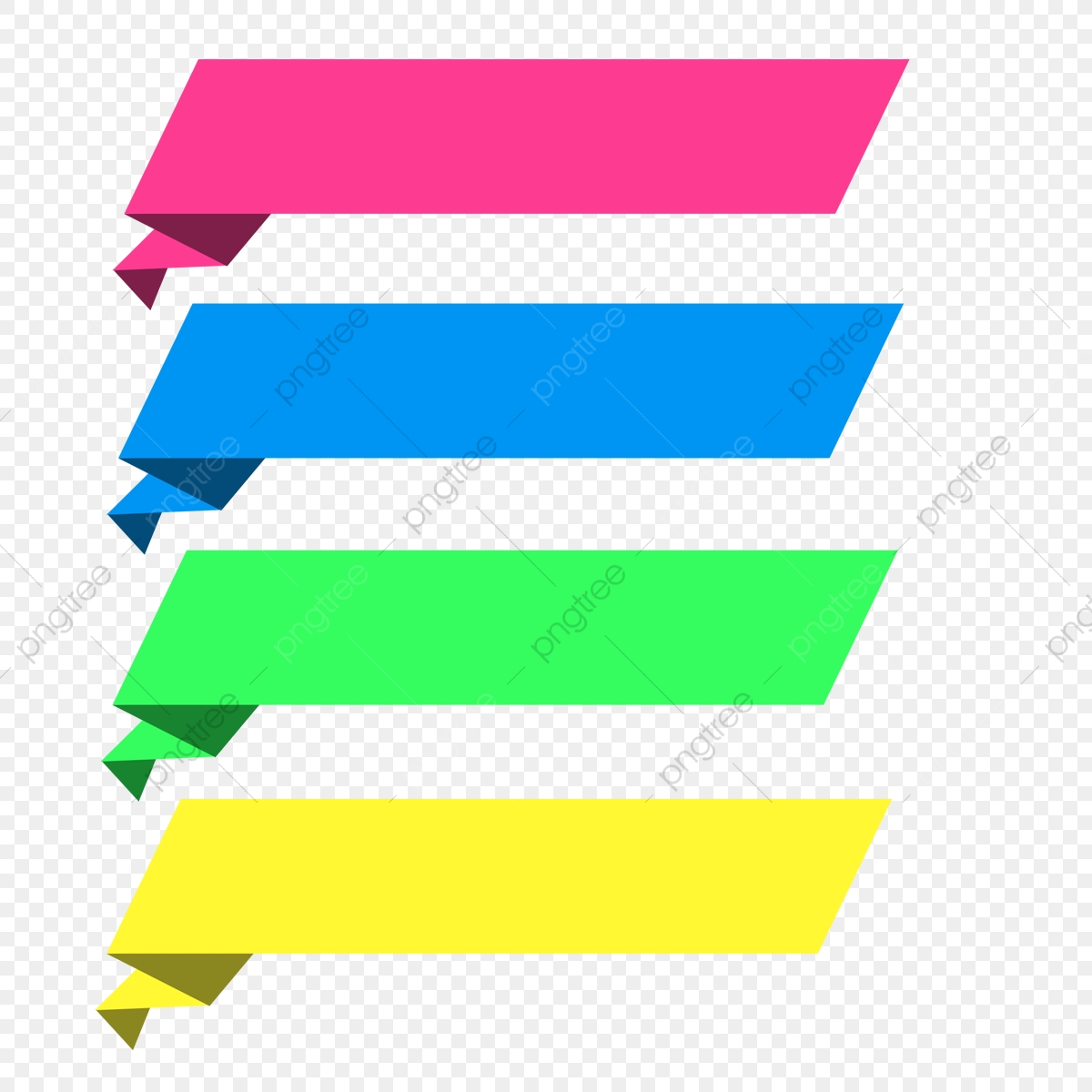 vector origami banner design  png  text box  banner vector
