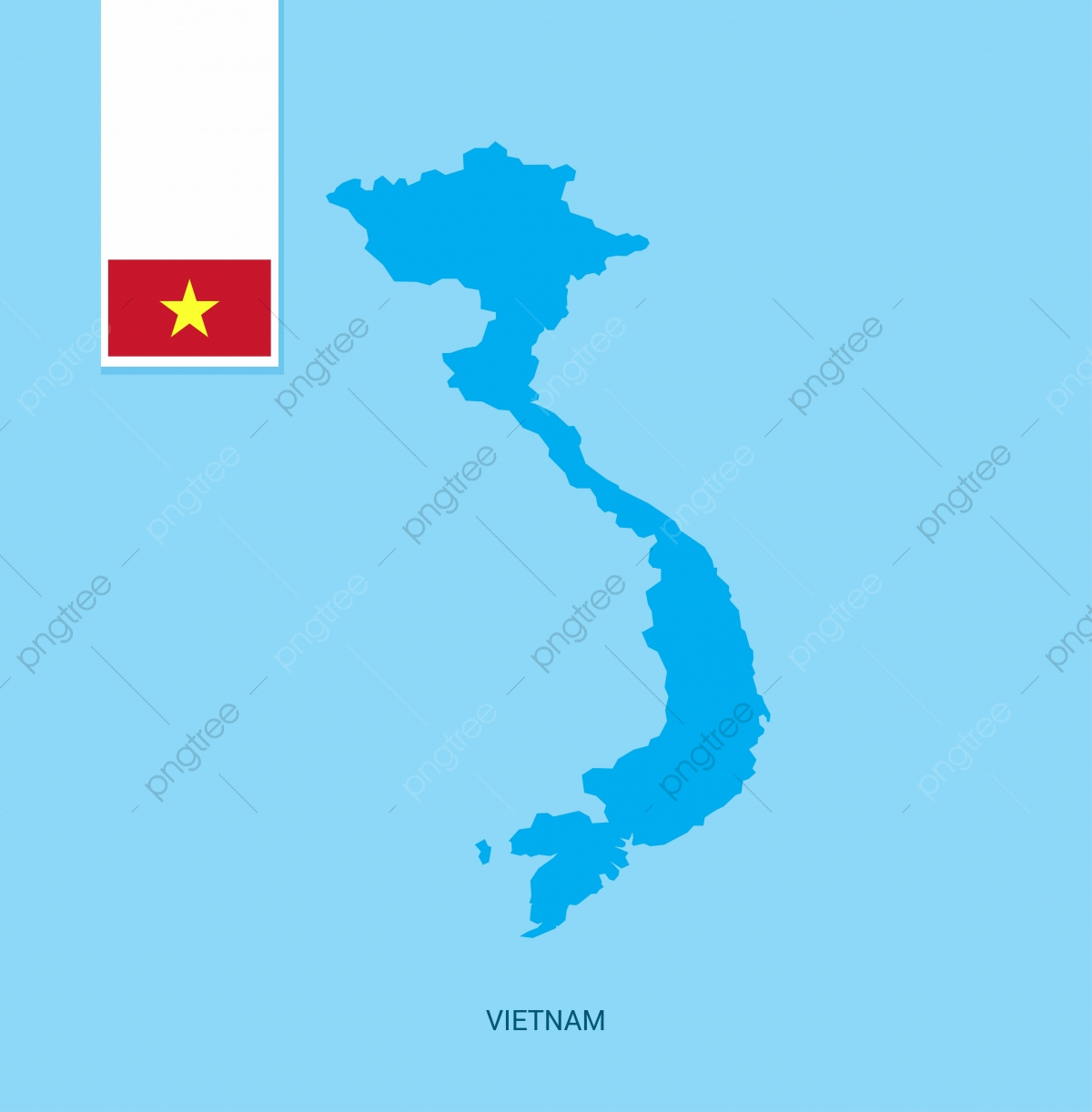 Vietnam Country Map With Flag Over Blue Background Map Icons Flag Icons Background Icons Png And Vector With Transparent Background For Free Download