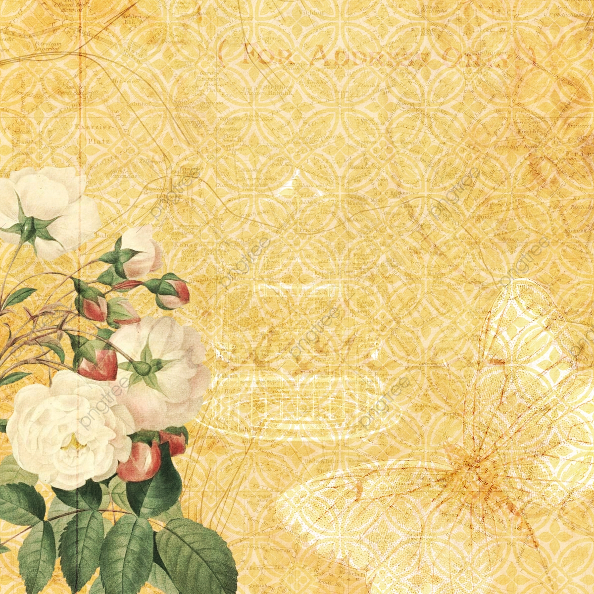 Vintage Floral Wallpaper Background Vintage Floral Floral Png Transparent Clipart Image And Psd File For Free Download