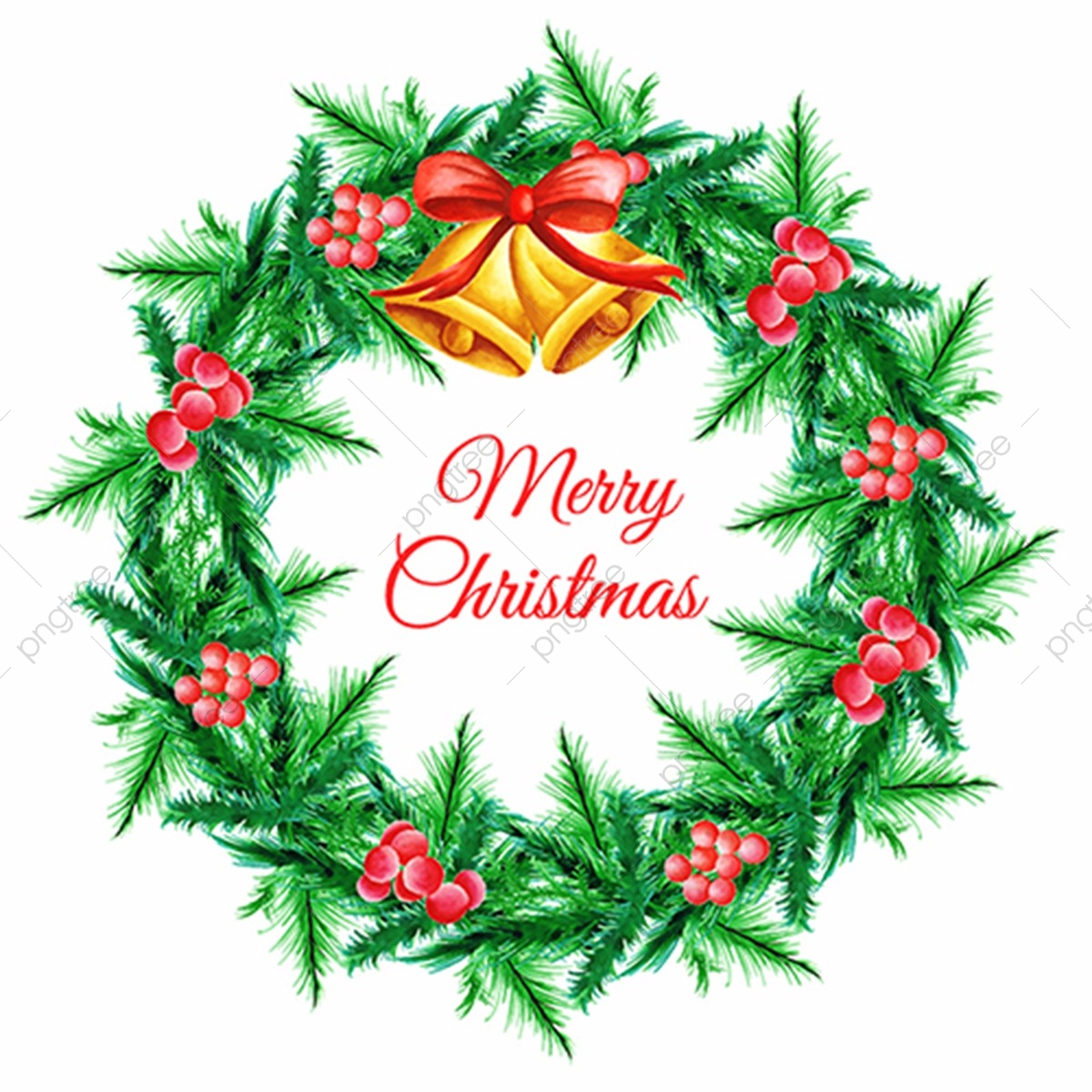 Watercolor Christmas Wreath Png.Watercolor Christmas Wreath Christmas Ornament Background