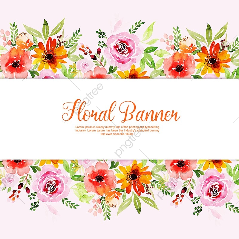 Watercolor Floral Banner Multi Purpose Background, Flowers ...