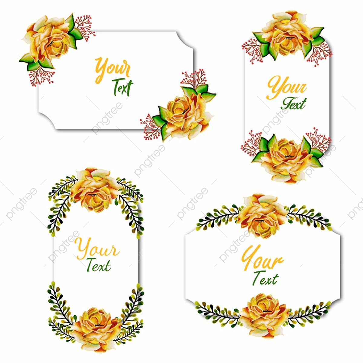 Watercolor Floral Frame, Watercolor, Color, Colorful PNG and Vector