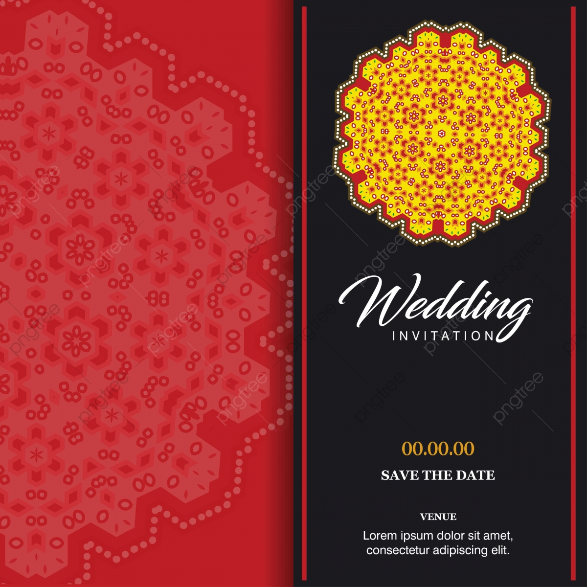 Indian Wedding Card Png Images Vector And Psd Files Free Download On Pngtree