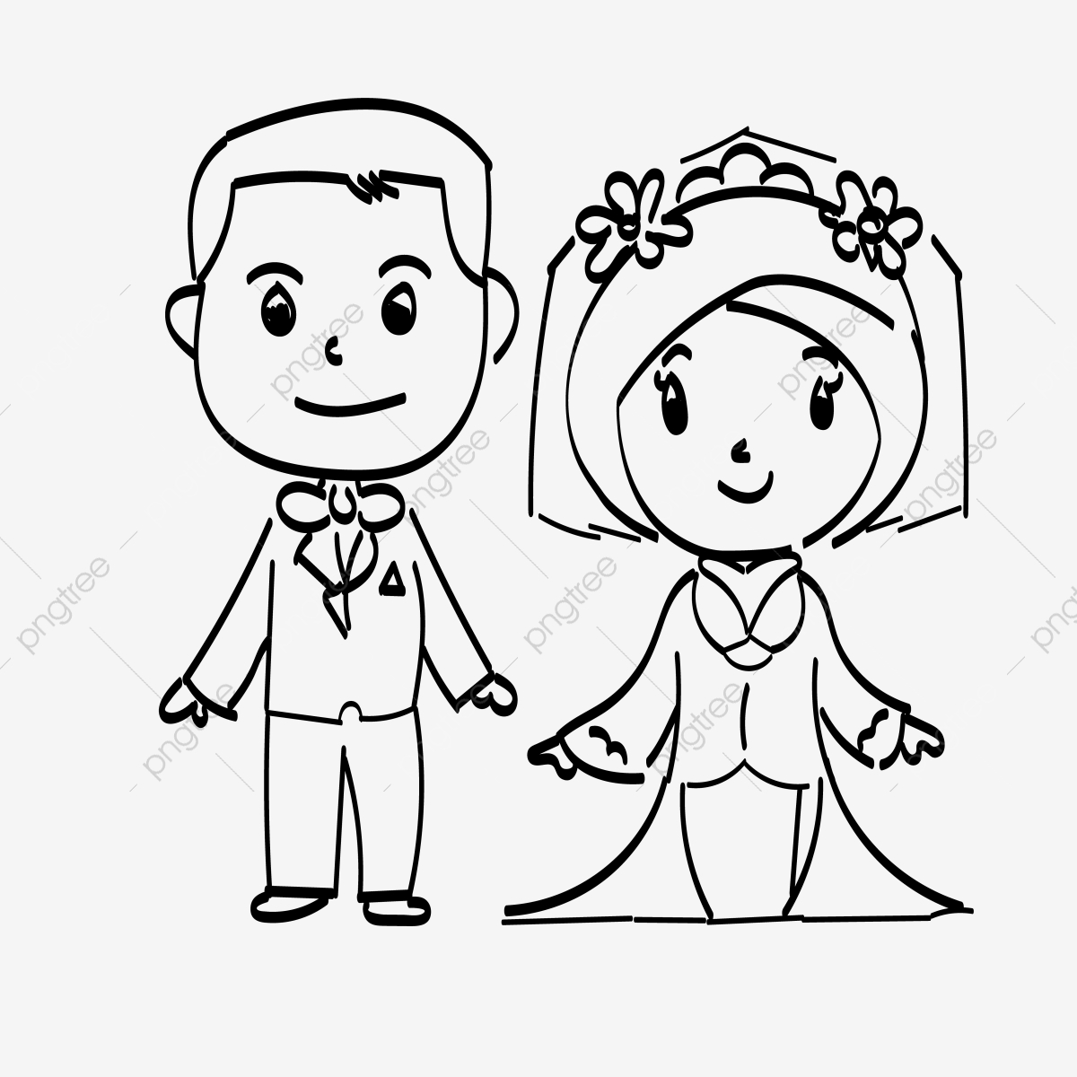 Wedding Couple Vector PSD And Clipart With