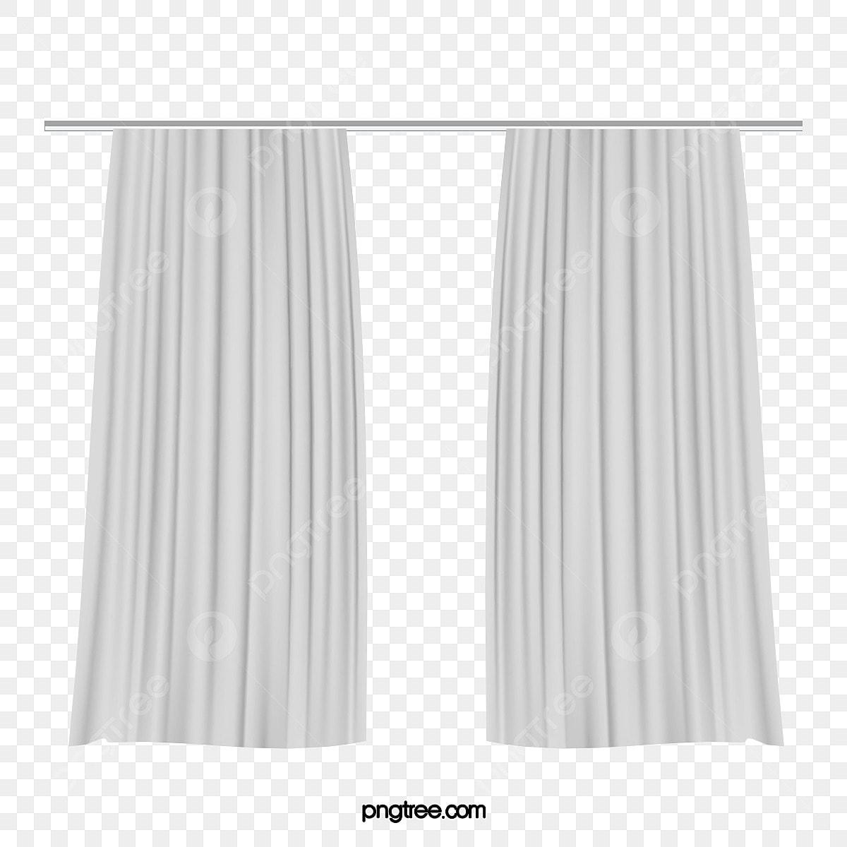White Elegant Curtain Material Object