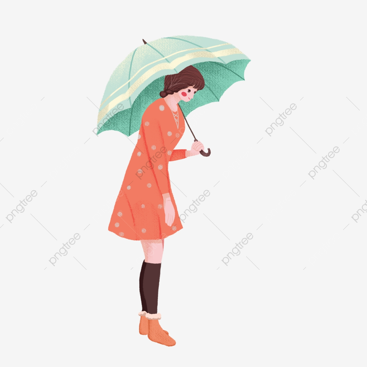 Winter Rain Rainy Day Rainy Season Umbrella Girl Umbrella Girl