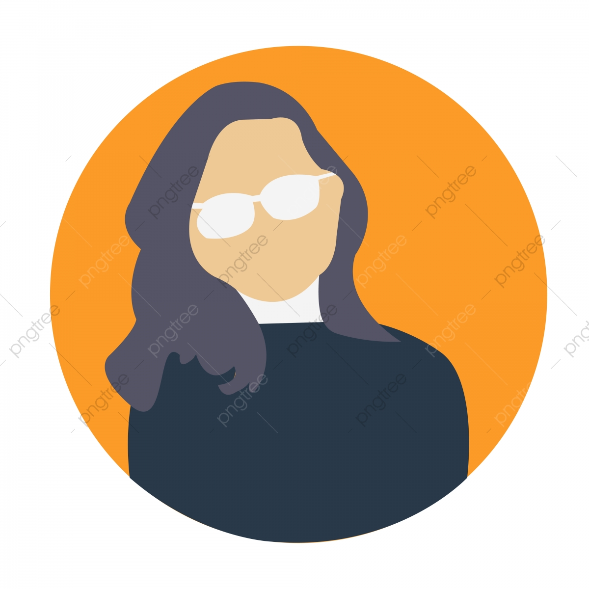 Woman Avatar Professional Icon Woman Flat Icon Woman ...