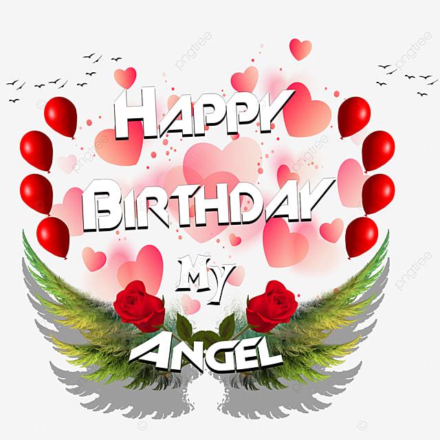 Joyeux Anniversaire Mon Amour Angel Angel Anniversaire Un Gâteau