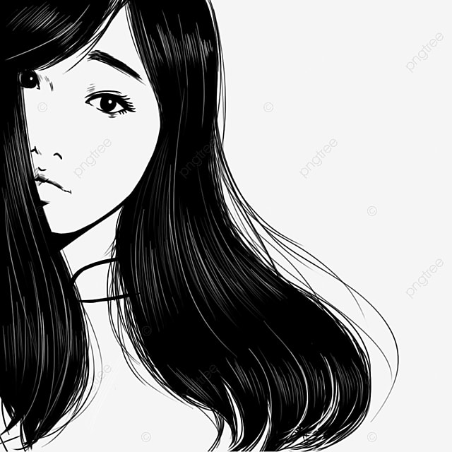 Unduh 9500  Gambar Animasi Perempuan Hitam Putih  Free