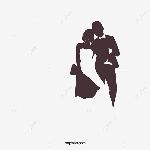 Illustrations De Silhouette De Couples De Mariage Clipart De Mariage Noir Et Blanc La Mariée Dessin Animé Fichier Png Et Psd Pour Le Téléchargement Libre