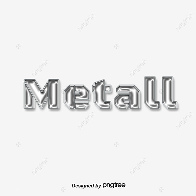 Silver Metal Texture Letters Art Font For Free Download
