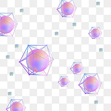 3d solid color geometry, 3d, Geometric Elements, Creative PNG and PSD