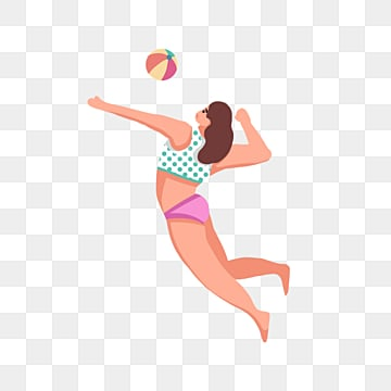 elements of beach volleyball in summer, Element, Summer, Summer PNG and PSD