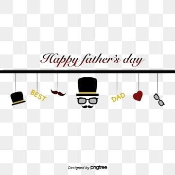 Happy Fathers Day hat, sunglasses, beard, hand-painted, Hand Painted, Heart Love, Fathers Day PNG and PSD