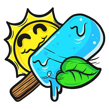refreshing ice cream, Sticker, Clothing Design, Clothing PNG and PSD