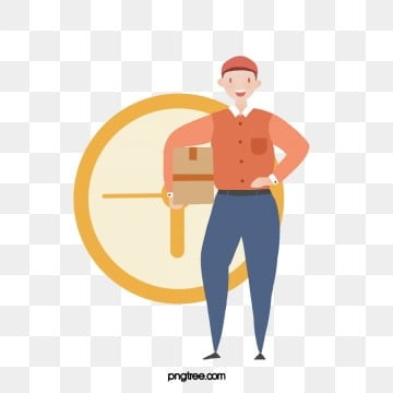 simple cartoon courier image elements, Character, Cartoon, Express PNG and PSD