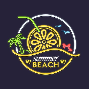 Summer neon lemon sign, Pleasantly Cool, Creative, Summer PNG and PSD