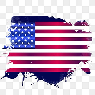 Usa flag png transparent background in paint splash style, Usa 4th July, Usa Independence Day, Usa Flag PNG and PSD