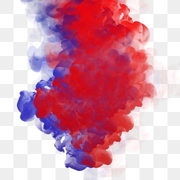 Red Blue Smoke Abstract Frame Art Watercolor Paint
