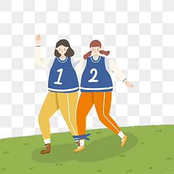 girls with two legs and three feet in a minimalist sports meeting, Girl, Match, Soft Pale PNG and PSD