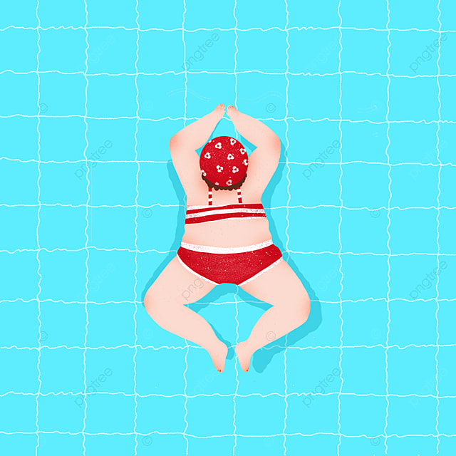 Girls Sitting In The Swimming Circle In The Swimming Pool