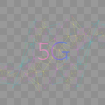 5g gradual color data line geometric network, 5g, Element, Geometric PNG and PSD