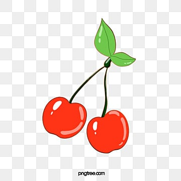 colorful cherry fruit cartoon emblem element illustration, Cartoon, Leaf, Color PNG and PSD