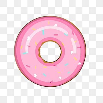 colorful doughnut gourmet cartoon emblem element illustration, Cartoon, Color, Badge PNG and PSD