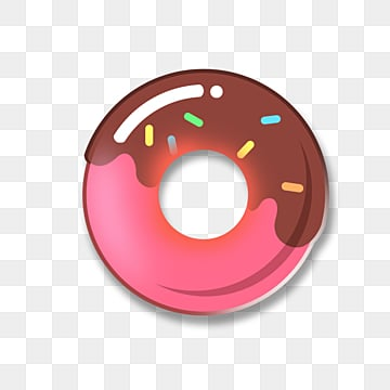 fruit gourmet cartoon badge donuts, Cartoon, Lovely, Pattern PNG and PSD