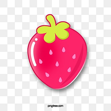 fruit gourmet cartoon emblem red strawberry, Cartoon, Lovely, Pattern PNG and PSD