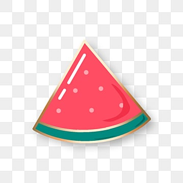 red watermelon cute emblem element, Element, Badge, Fruits PNG and PSD