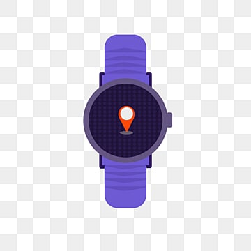 elemental illustration of purple flat smart watch, Artificial Intelligence, Icon, Screen PNG and PSD